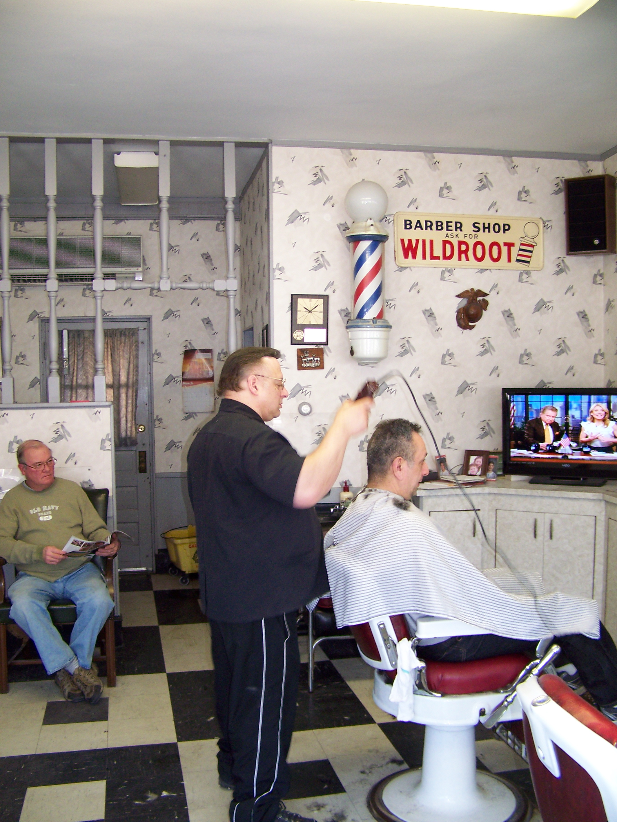 From Frank's to Louie's    It's a barber shop, not a salon
