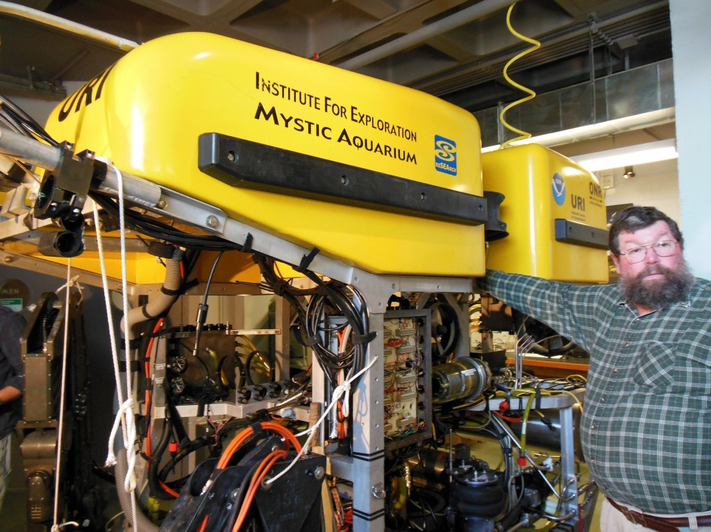 Hercules is a remotely operated vehicle (ROV) and Bob Knott is the man charged with making its video feeds available to the world.