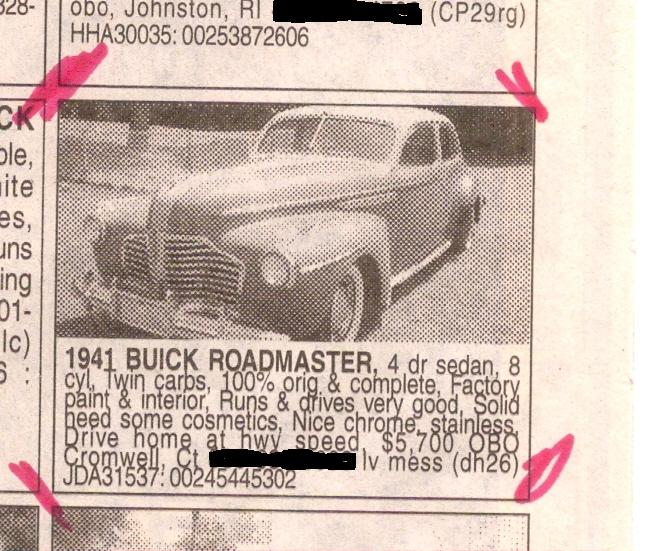 "The original ad from Auto Trader, August,  2002 issue. Note the ""$5,700 OBO"" price."