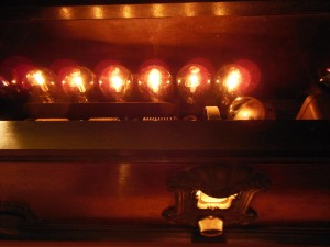 Tubes produce a unique glow that is best observed with all the lights out. Coincidently, many believe that that is also the best way to listen to Old Time Radio (OTR) shows.