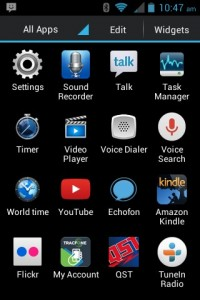 A small selection of apps that are on the phone. Most came with it, some I added. You can have 5 (maybe more) different screens.