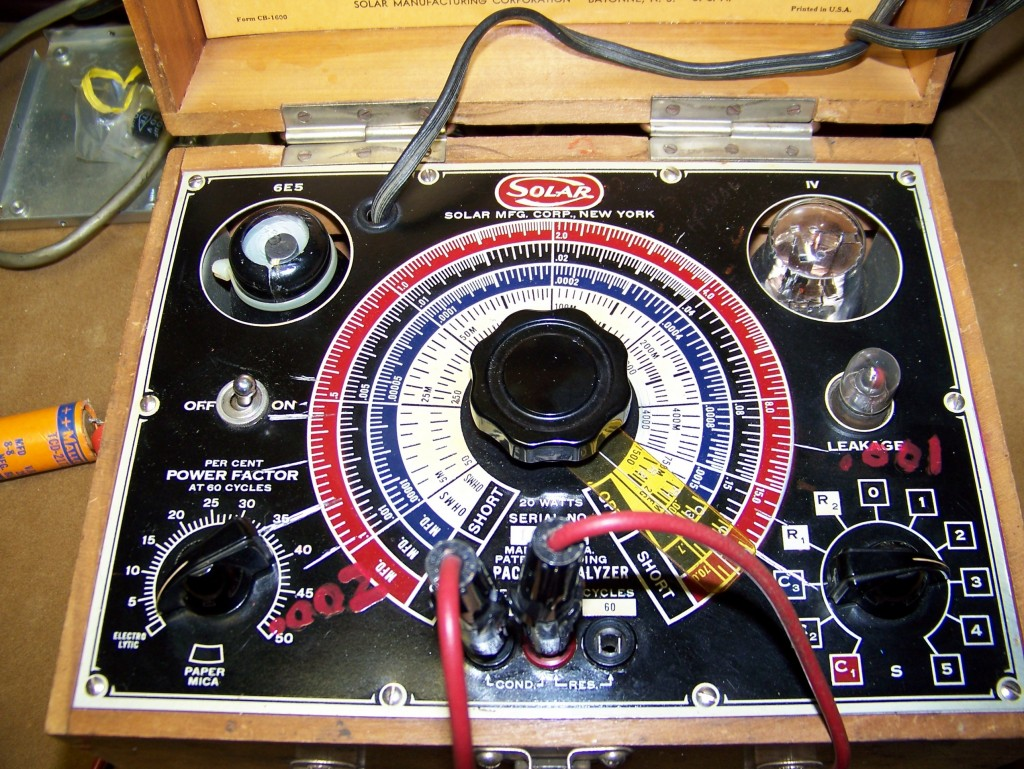 The Solar capacitor checker. Two tuning eye tubes and lots of color. As good as it gets.