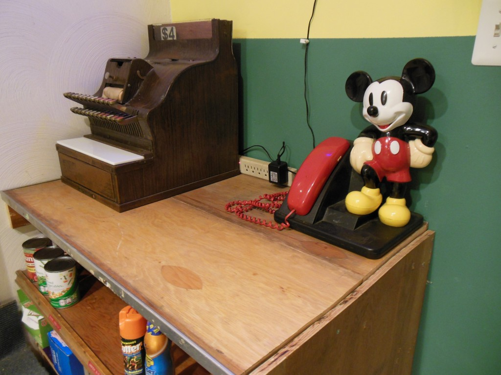 My grandsons will have fun talking on Mickey and ringing up sales on the old Remington register.