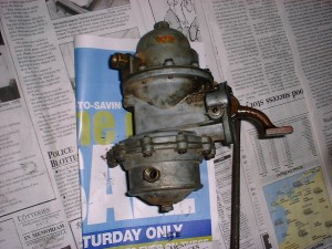 This is the old fuel pump that was removed. I replaced it with a rebuilt one.
