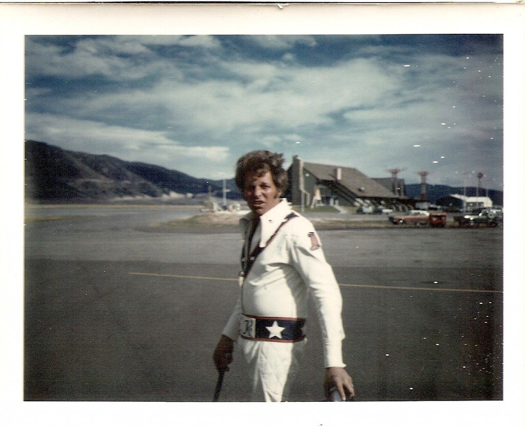 Evel at one of his favorite places (other than a golf course), the Butte, MT airport.
